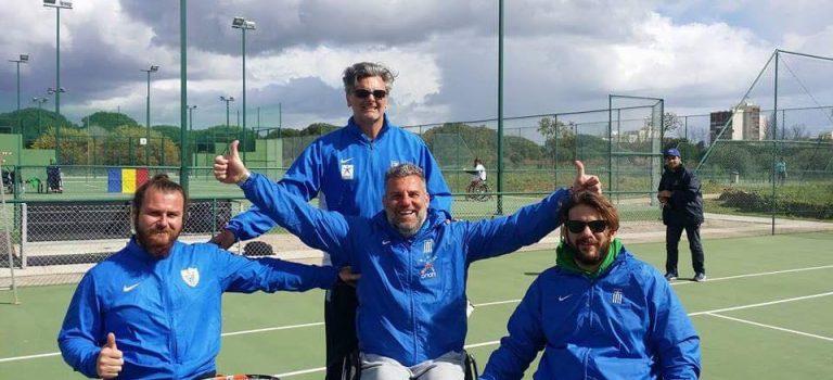 Στα ημιτελικά η Εθνική τένις με αμαξίδιο